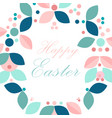 beautiful floral frame or floral wreath border vector image
