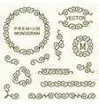 Beautiful set of line design elements vector image vector image
