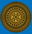 blue and golden circles vector image