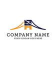 business letter sh logo vector image vector image