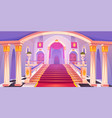 castle staircase upward stairs in palace entrance vector image vector image