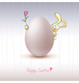 Chicken egg with easter bunny icon vector image vector image