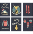 christmas cards set vector image vector image