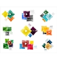 collection colorful square web boxes vector image vector image