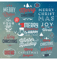 collection typographic christmas design vector image vector image