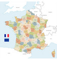 colorful map france vector image vector image