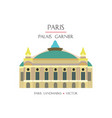 colorful paris landmark 8 vector image