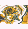 contrast yellow liquid splash 3d presentation vector image vector image