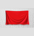 covered picture on brick red canvas wall vector image