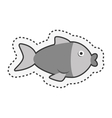 cute fish isolated icon vector image vector image