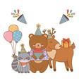 cute little animals cartoon vector image vector image
