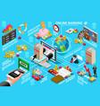 digital online banking vector image vector image