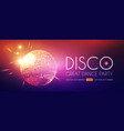 disco party flyer template with mirror ball vector image vector image