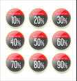 discount sale stickers collection vector image vector image