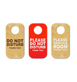 Do Not Disturb Sign Set vector image vector image