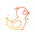 duck icon design vector image