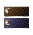 eid mubarak islamic set greeting banners abstract vector image