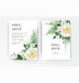 elegant editable watercolor floral card design vector image