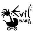 evil baby vector image vector image