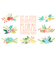 Floral compositions vector image vector image