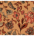 floral seamless pattern in brown colors vector image vector image