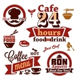 food and restaurant labels icons vector image vector image