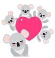 Funny cute koala set Card design with a funny vector image