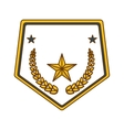 gold police badge icon image vector image vector image