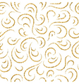 Gold wave seamless pattern draw vector image vector image