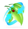 Green Leaves Icon vector image vector image