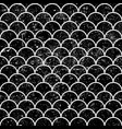 Grunge fish scales monochrome seamless pattern