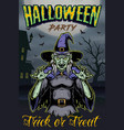 halloween party vintage template vector image