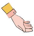 human hand receiving icon vector image vector image