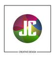 initial letter jc logo template design vector image
