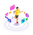 isometric male athlete beautiful sports body vector image vector image