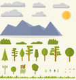 Landscape elements vector image