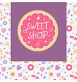 Logo template for sweets shop Pattern with vector image vector image