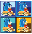 lunch time set vector image