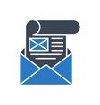 mailing glyph icon vector image vector image