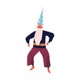 male character in wizard costume flat vector image vector image