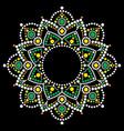 mandala bohemian dot painting design vector image vector image