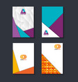 material design lines set covers vector image