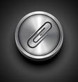 metal icon vector image vector image