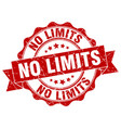 no limits stamp sign seal vector image vector image