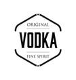 original vodka spirit sign vintage stamp vector image