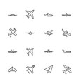 planes- flat line icons vector image
