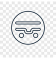 precipitation concept linear icon isolated on vector image