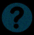 query mosaic icon of halftone circles vector image