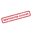 Restricted Access Rubber Stamp vector image vector image