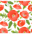seamless pattern with poppies vector image vector image